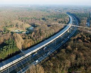 Belgienii au construit primul tunel feroviar alimentat cu energie solara din Europa