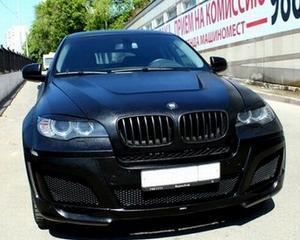 Tuning auto extrem: BMW imbracat in piele de vaca