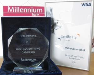 Visa a premiat Millennium Bank pentru campaniile publicitare legate de carduri