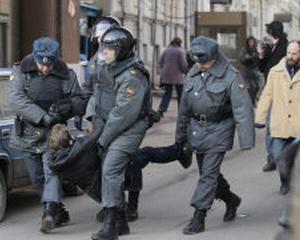 RUSIA: 150 de protestatari antiguvernamentali au fost retinuti la Moscova si Sankt Petersburg