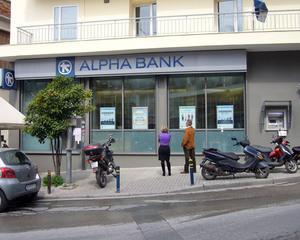 Alpha Bank a inregistrat pierderi in Romania