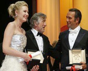 Kirsten Dunst si Jean Dujardin, distinsi cu premiile de interpretare la Cannes