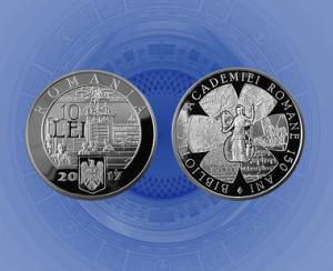 BNR dedica o emisiune numismatica Bibliotecii Academiei Romane