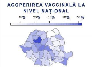 Bucurestiul si judetele Cluj, Sibiu, Brasov si Timis au cele mai mari procente de persoane vaccinate