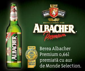 Berea Albacher Premium 0,66l premiata cu aur de Monde Selection