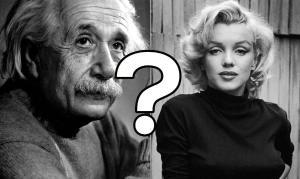 Albert Einstein si Marilyn Monroe: