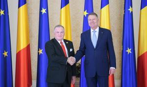 Noul ambasador al SUA in Romania i-a inmanat scrisorile de acreditare presedintelui Klaus Iohannis