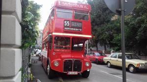 """Ultima """"Calatorie"""" a London-Bus-ului pe strazile Bucurestiului,  pana la stagiunea de toamna"""