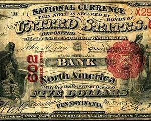 7 ianuarie 1782: se deschide prima banca comerciala americana, Bank of North America, in Philadelphia