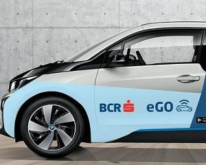 BCR lanseaza primul program de car-sharing cu masini electrice. Cheia este inlocuita de cardul bancar
