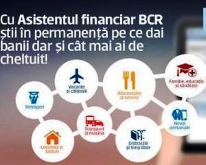 BCR ofera gratuit clientilor un motor de analiza automata a fluxului de venituri si cheltuieli