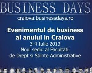 S-au deschis inscrierile la Craiova Business Days