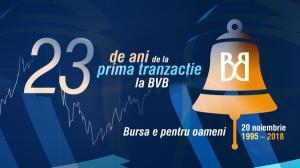 23 de ani de la prima tranzactie la Bursa de Valori Bucuresti