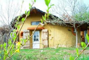 O arhitecta din Caras-Severin a construit casa 100% naturala: Intra in circuit turistic peste doua luni