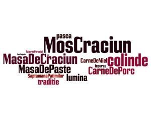 Paste vs. Craciun 2013: cele mai folosite cuvinte de sarbatori in online-ul romanesc