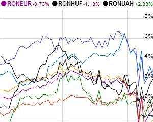 Leul in 2013: Crestere in fata rublei rusesti, minus in fata forintului maghiar
