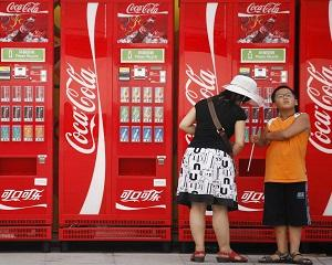 Vanzarile Coca-Cola cresc in China, dar scad in Europa