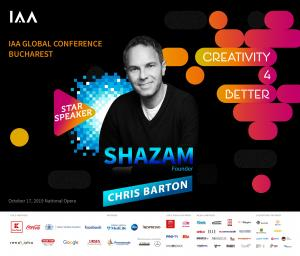 Chris Barton, Fondatorul Shazam, vine pe scena Conferintei Globale IAA
