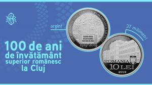 Emisiune numismatica avand ca tema 100 de ani de invatamant superior romanesc la Cluj