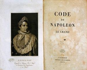 21 martie 1804: in Franta este introdus Codul civil napoleonian