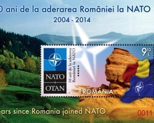 Marcile postale romanesti sarbatoresc aniversarea unui deceniu de la aderarea Romaniei la NATO
