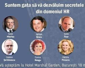 "Conferinta ""Cariera ta in HR - Leadership, performanta, intraprenoriat"": cei mai apreciati lectori din HR vin pe 18 martie la Hotel Marshal Garden"