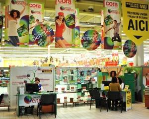 Serviciul de transfer de bani Western Union este disponibil in reteaua de hipermaketuri Cora din Romania