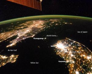 Noaptea, Coreea de Sud pare o insula
