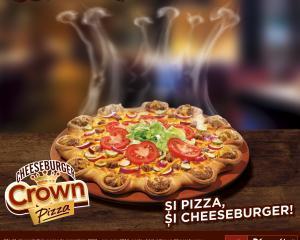 Pizza sau cheeseburger? Nu te decizi? Pizza Hut le combina si ti le da in Crown Cheeseburger