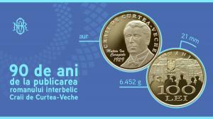 BNR dedica o moneda din aur  implinirii a 90 de ani de la publicarea romanului Craii de Curtea-Veche