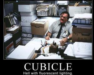 """Studiu: Birourile de tip """"cubicle"""", proiectate de """"Diavol"""" in adancurile """"Iadului"""""""
