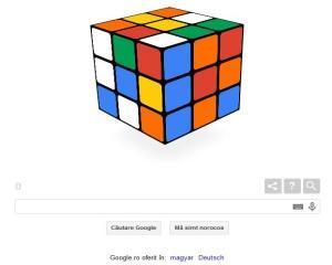 40 de ani de la inventarea Cubului Rubik, sarbatoriti de Google