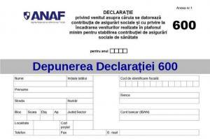 Formularul 600 NU se mai depune