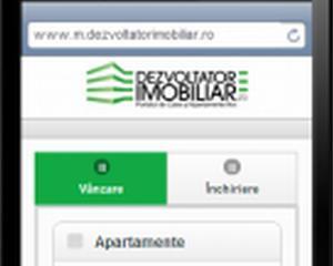 Dezvoltator imobiliar, prezent si pe mobil
