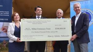 Fondul Ambasadorial pentru Conservarea Patrimoniului Cultural a donat 500.000 de dolari pentru restaurarea bisericii fortificate din Alma Vii