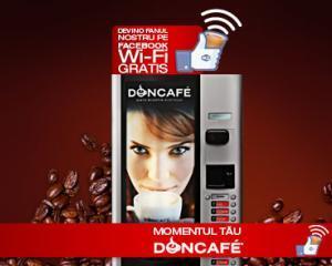 Doncafe lanseaza automatele de cafea cu wireless gratuit