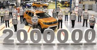 Dacia a produs doua milioane de modele Duster. Primul milion a fost atins in 2016
