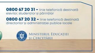 Ministerul Educatiei a infiintat doua linii Telverde destinate informarii cu privire la inceperea noului an scolar si universitar