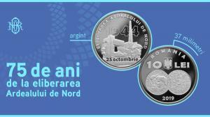 Emisiune numismatica la 75 de ani de la eliberarea Ardealului de Nord