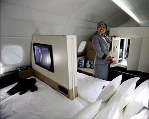 Compania aeriana Etihad vinde un bilet de avion cu 18.000 de euro