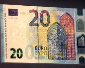 Bancnota de 20 de euro, acum intr-o noua prezentare