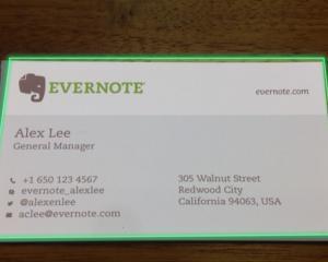 Evernote colaboreaza cu LinkedIn pentru scanarea cartilor de vizita