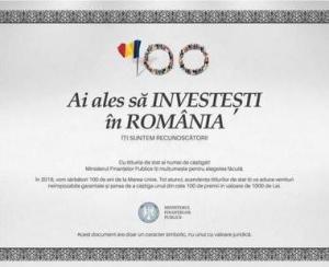 Statul le plateste investitorilor prima dobanda anuala pentru titlurile de stat FIDELIS, editia Centenar