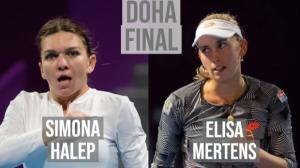 LIVE TEXT si FOTO: Finala de la Doha 2019. Simona Halep pierde trofeul in fata lui Elise Mertens