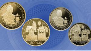 BNR dedica o moneda care costa peste 10.000 de lei noi Vizitei Apostolice a Sanctitatii Sale Papa Francisc in Romania