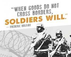 Cand bunurile nu trec granitele, soldatii o vor face!
