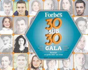 Gala Forbes 30 sub 30 celebreaza si in 2016 liderii noii generatii