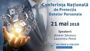 GDPR 2018 | Conferinta Nationala de Protectia Datelor Personale - un eveniment Rentrop & Straton