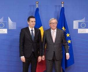 Presedintele Comisiei Europene l-a incurajat pe premierul roman sa continue lupta impotriva coruptiei