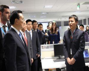 Premierul Chinei a vizitat sediul Huawei Technologies din Romania